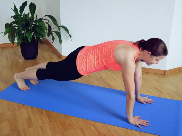 Workout Ariana Training Plank Liegestützen