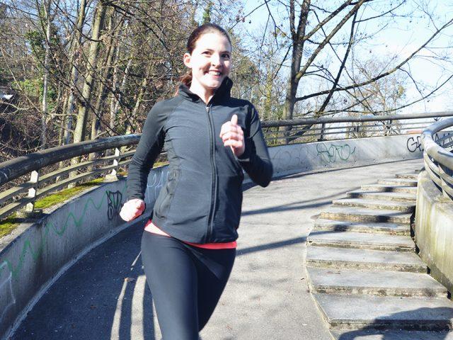 Laufen Joggen Rennen Herbst
