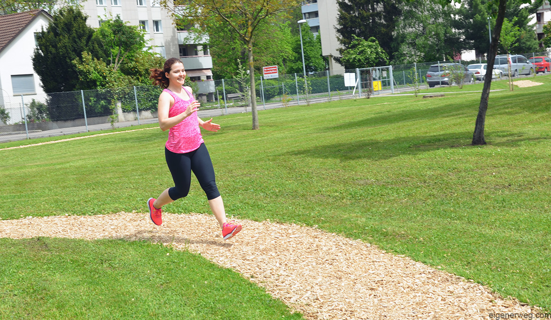 Laufen Rennen Läuferin Joggen