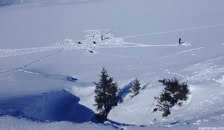 Eisfischen Sport, Winter, Schnee, Training