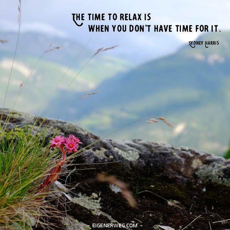 Motivation: Lass uns entspannen!