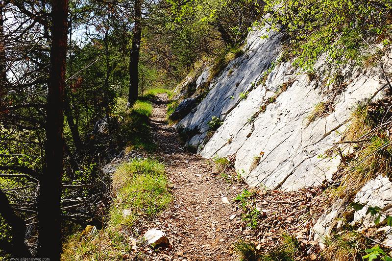 Wanderweg bei Moutier