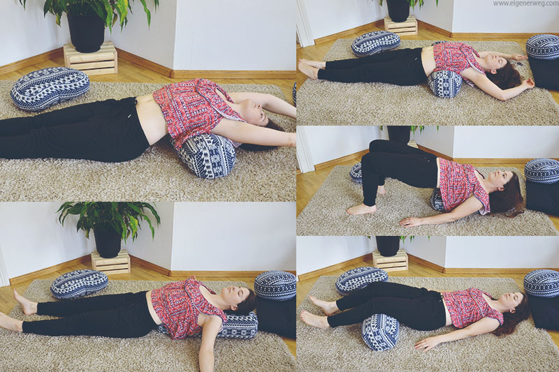 Übungen mit einem Yoga Bolster