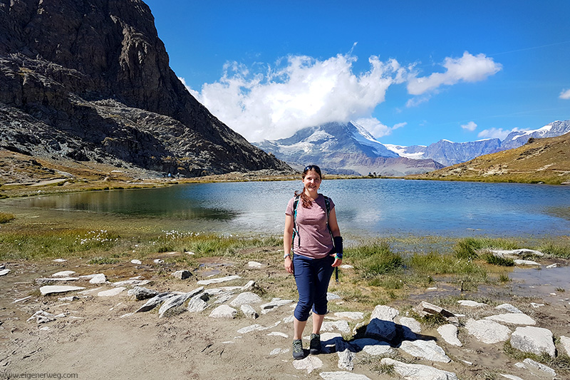 Arian vor Matterhorn in Zermatt