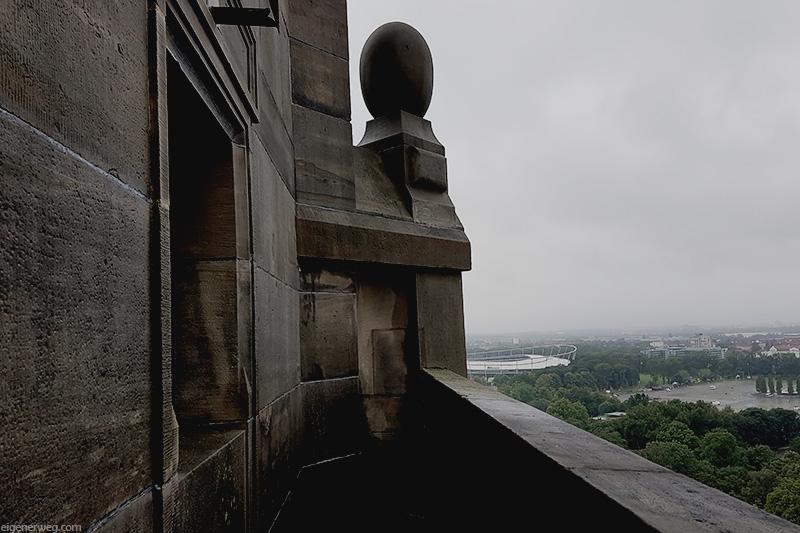 Aussicht auf Hannover bei Regen