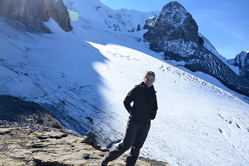 Wandern am Gletscher