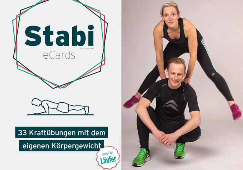 E Cards mit Stabi Übungen