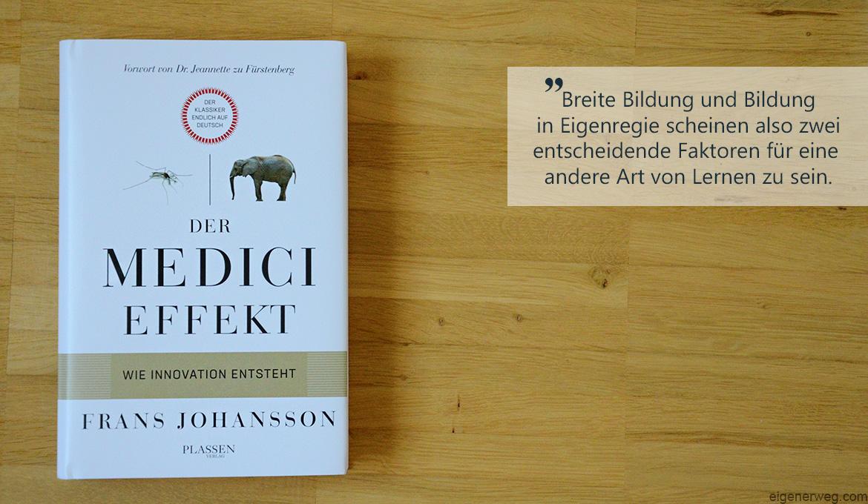 Buchbesprechung: Der Medici Effekt