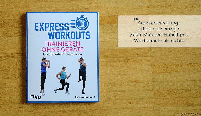 Buchbesprechung: Express Workouts – Trainieren ohne Geräte
